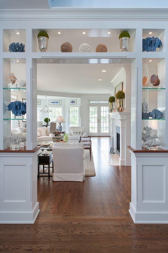 Pass through half wall remodel in 2020 | Living room ...