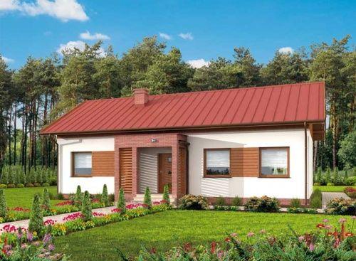 Bellona to propozycja domu jednorodzinnego. Oryginalnie zaprojektowany ganek oraz weranda przyciągają wzrok.