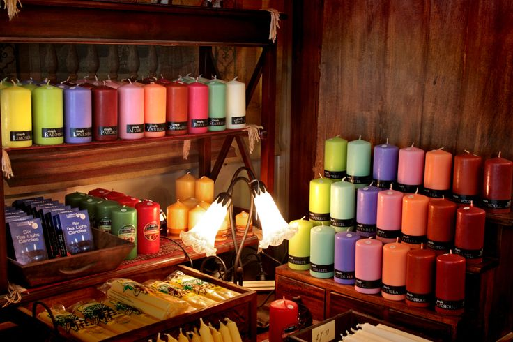 "Simply candles display at one of the best shops in the Dandenong ranges ""Mangana Crafts"" Olinda, Victoria."