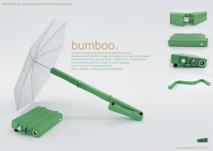 505b8c975 Bumboo. Umbrella, Seat Cushion, Walking Stick all in one. By ...