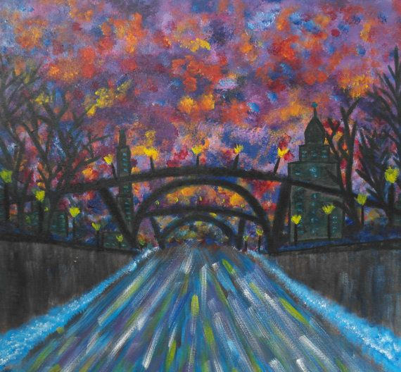 Original Abstract Painting of Ottawa Rideau by TheGarnishRoom