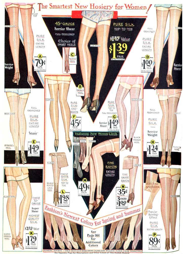 Wearing History – 1930 stockings, catalog