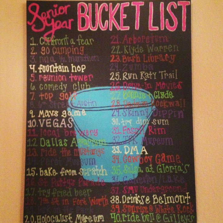 Senior Year Bucket List with my roomies!