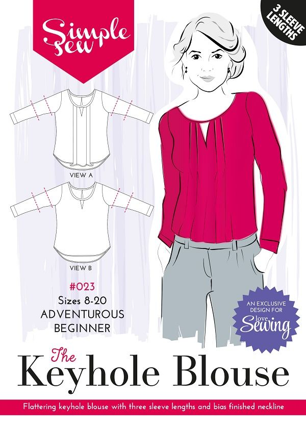 Simple Sew Keyhole Blouse Pattern free with Issue 23 of Love Sewing Magazine