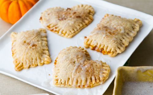 Pumpkin Pie Pockets with Vanilla Glaze - I will be using real butter ...