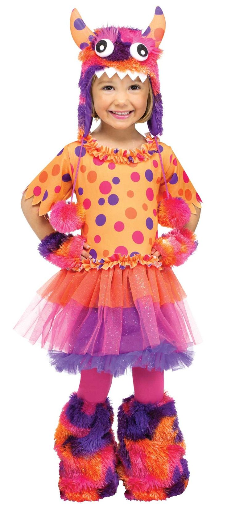 cute fuzzy fifi girls halloween costume - Baby Monster Halloween Costumes