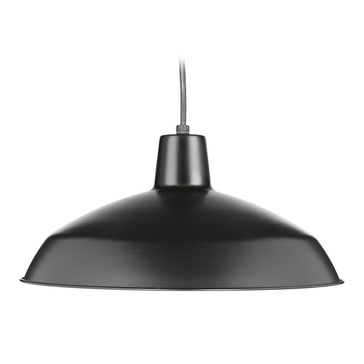 Progress Lighting Barn Light Pendant Black 16-inch Wide by Progress Lighting P5094-31