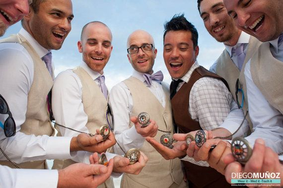 Five Groomsman Pocket Watches  Vintage Style Gifts by jerseymaids, $250.00