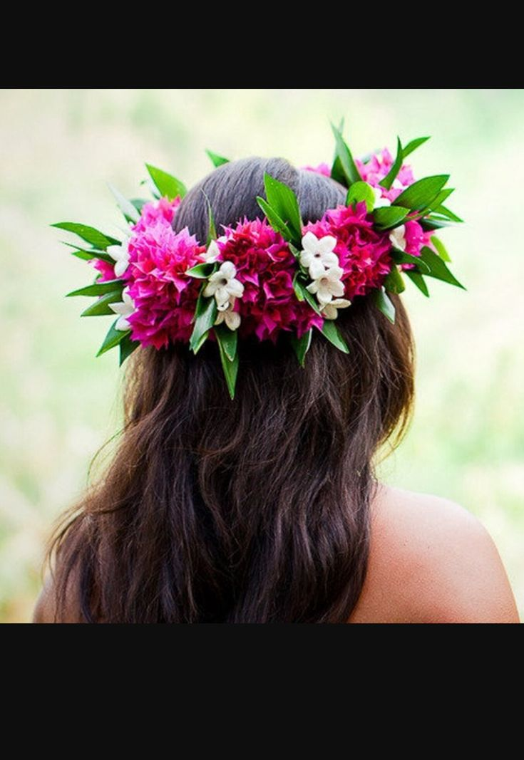 best  hawaiian flower hair ideas on   hawaiian hair, Beautiful flower