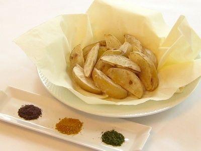 揚げないフライドポテト カロリーはあのお店の1/3. Lower calorie fries.