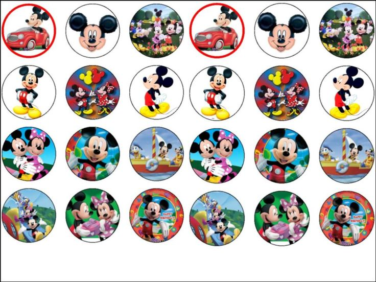 Mickey Mouse Clubhouse Cupcake Toppers Printable cakepins ... Mickey Mouse Cupcake Toppers Free