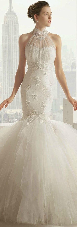 Rosa Clara 2015 Bridal- lace mermaid wedding dresses with tulle skirt