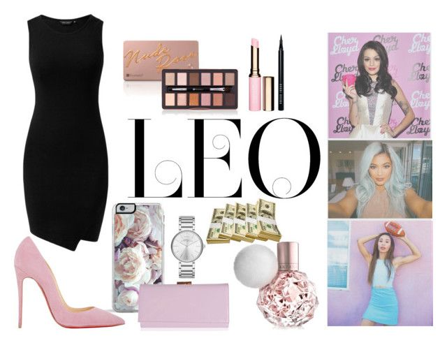 """""""Famous Leo stars Inspiration"""" by fashionave101 ❤ liked on Polyvore featuring Forever 21, Christian Louboutin, Ted Baker, Marc by Marc Jacobs, Clarins and Bobbi Brown Cosmetics"""