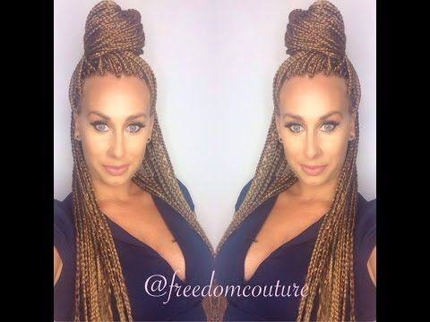 I got Box Braids! watch me get braided ,helpful hair care tips & cute braid styles - YouTube