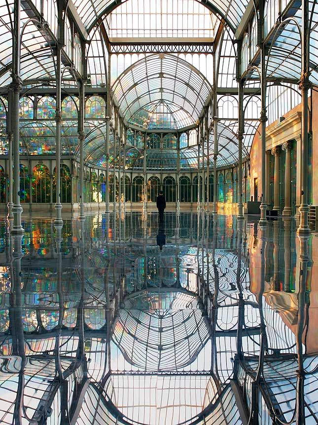 Kimsooja's Room of Rainbows - South Korean-born artist Kimsooja has had a long, intense career full of installations, performances, photography, videos and site-specific project. This particular installation from 2006 is at the Palace de Cristal in Madrid.
