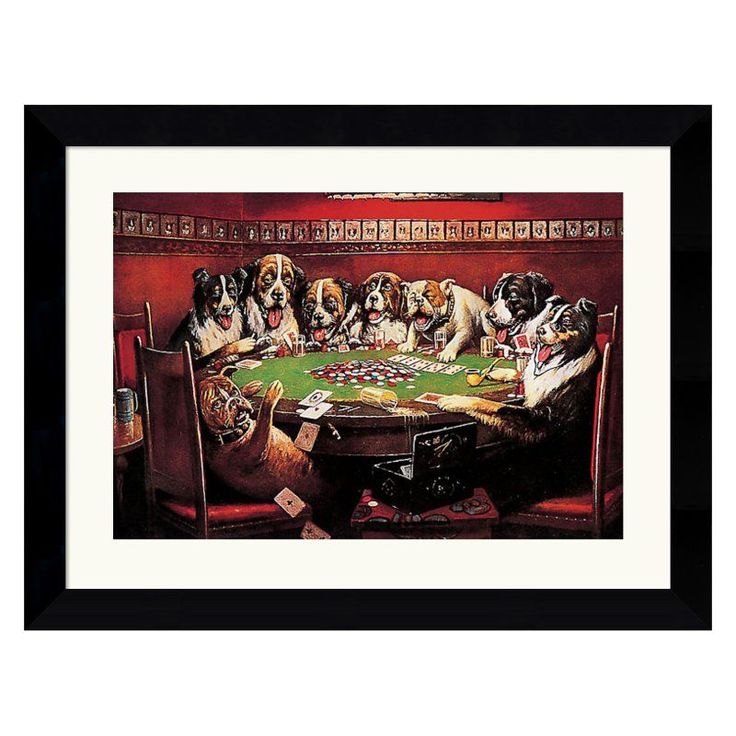 Poker Sympathy Framed Wall Art - 26.62W x 20.62H in. - DSW75001