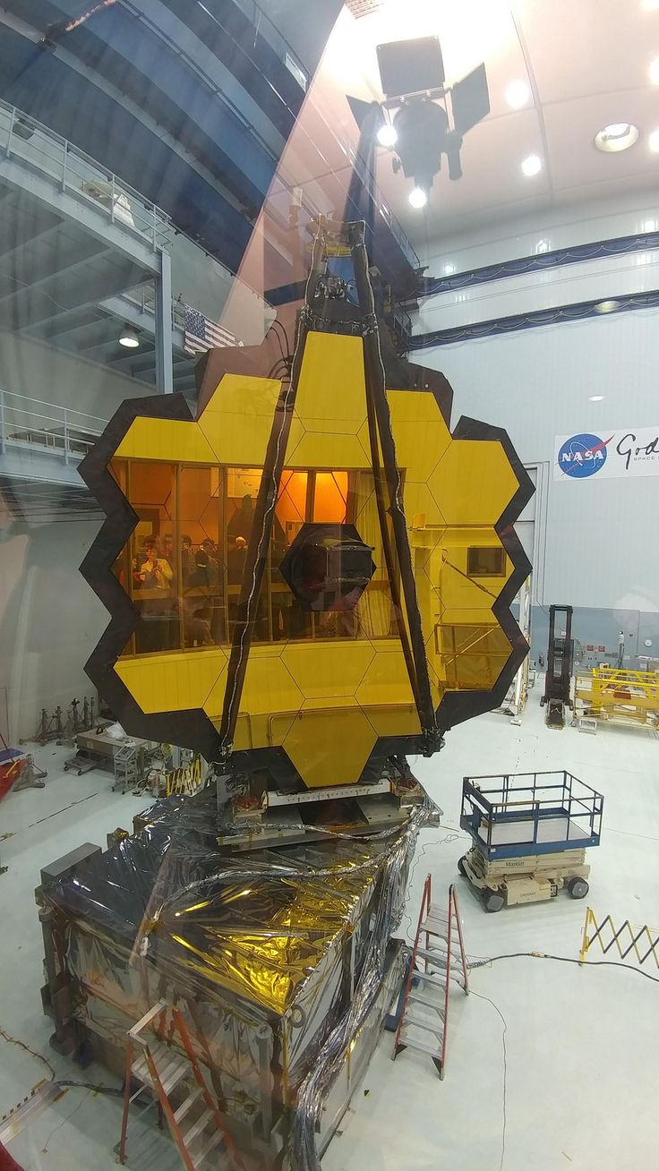 James Webb Space Telescope before its departure from Goddard Space Flight Center