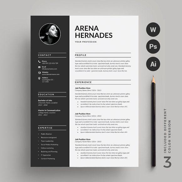 Resume Template Cv Cover Letter Resume Layout Resume Design Resume Cv