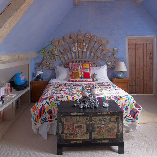 Colourful and quirky girls' bedroom