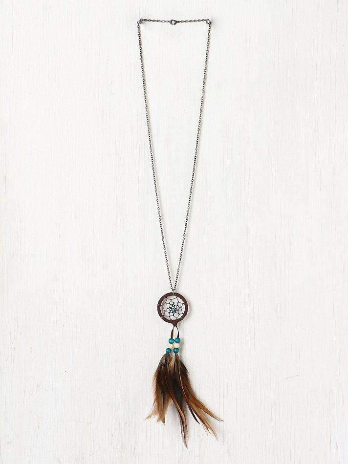 Free People Feather Dream Catcher Necklace, 38.00