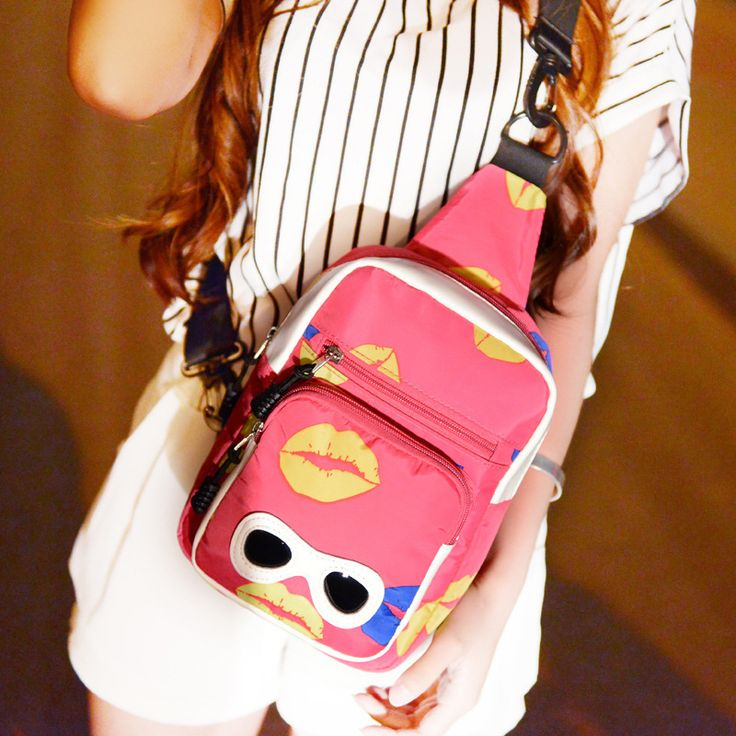 2015 FUNNY Pink Kawaii crossbody bags Chest Sling Pack Outdoor Sport Shoulder bag Packs Women Shoulder Bags Messenger bags - Top Kawaii - Best Online Kawaii Shop Top Kawaii - Best Online Kawaii Shop