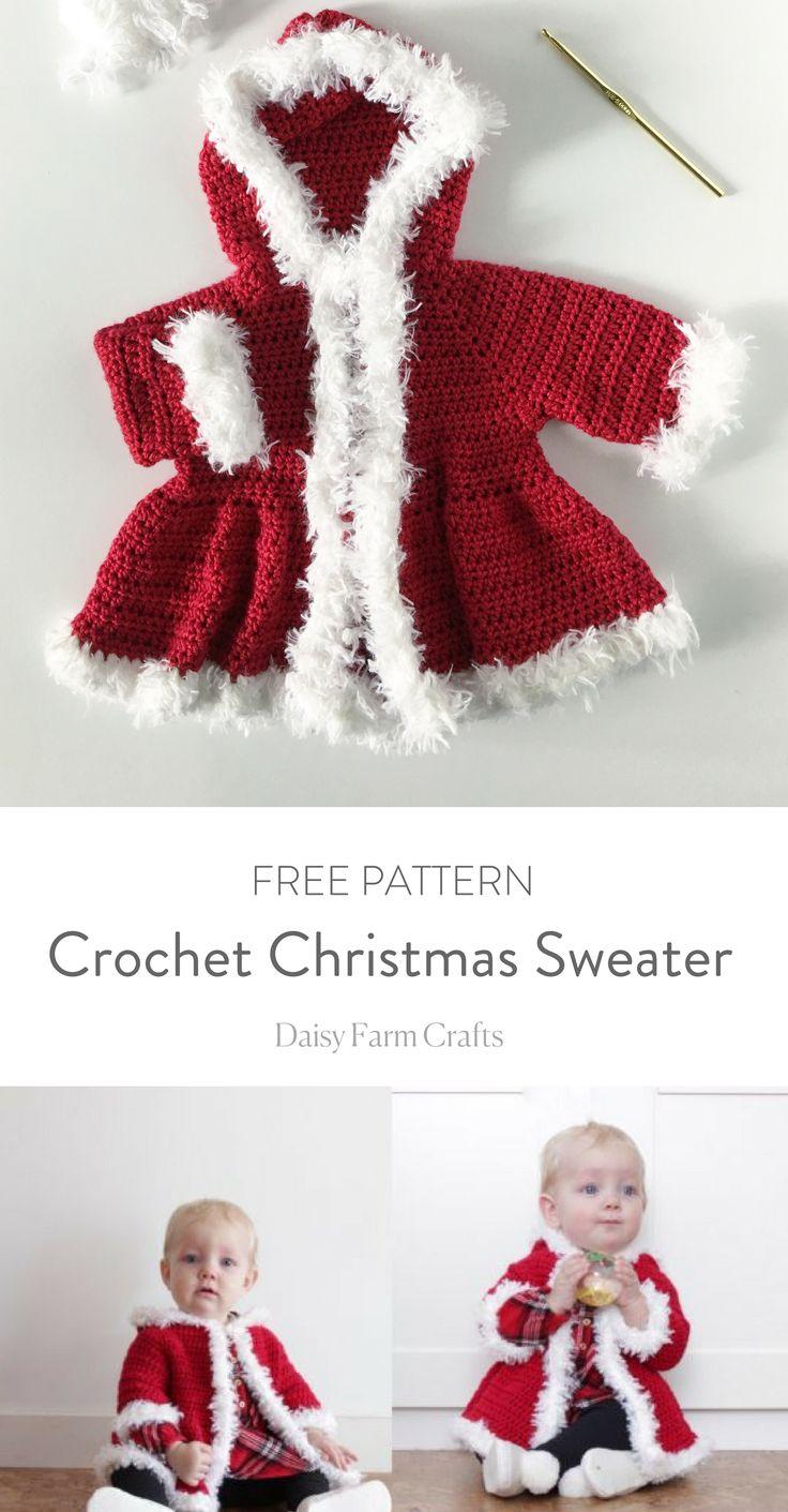 Crochet Christmas Sweater - Free Pattern