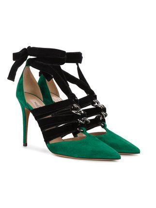 Valentino Zapatos De Tacón Con Puntera En Contraste - Farfetch