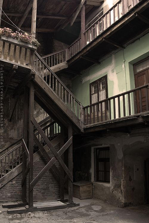 abandoned staircasees by Fuine Faireva on Deviant Art