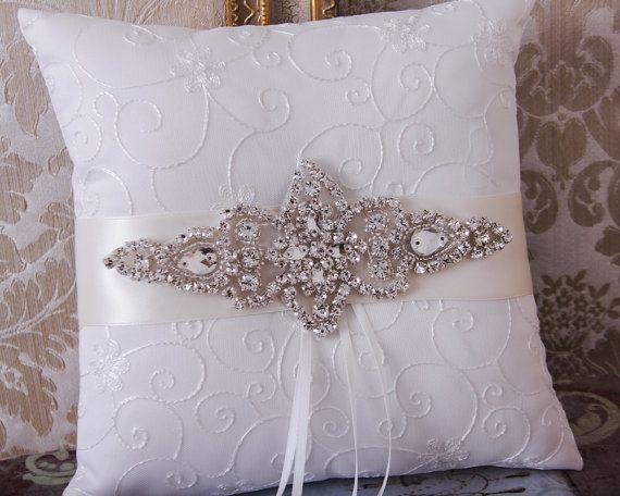 Almohada de anillo boda anillo de boda portador almohada