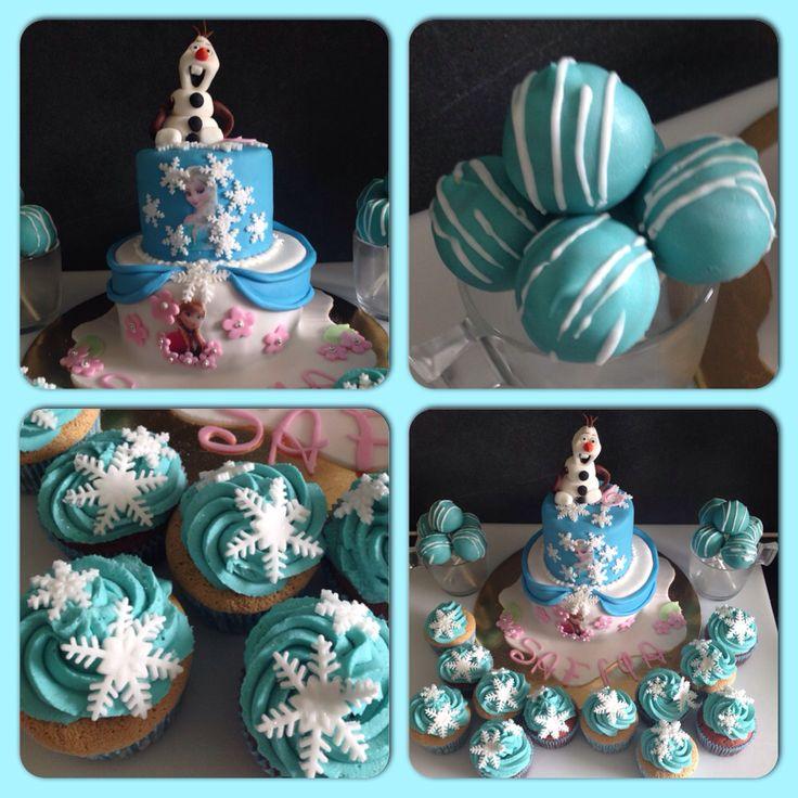 thme reine des neiges par angels fairy cakes popcakes cupcakes cake frozen anniversaire garons par angels fairy cakes pinterest angel
