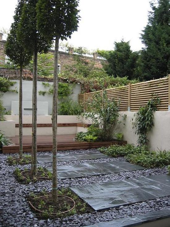 Contemporay garden & patio area