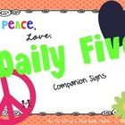Here are some daily 5 signs to go with my Peace, Love, Learning classroom themed decor.   This product is an unofficial adaption of the Daily 5 Pro...