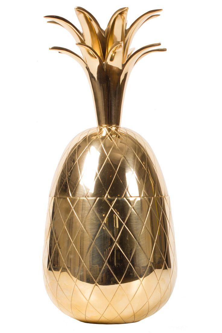 Large Brass Pineapple