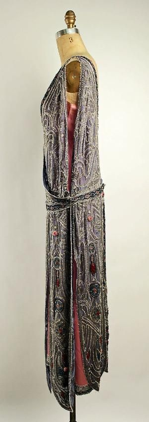 ~Evening dress House of Lanvin (French, founded 1889) Designer: Jeanne Lanvin (French, 1867–1946) Date: spring/summer 1923 Culture: French Medium: silk, metallic thread, glass beads~ by lula