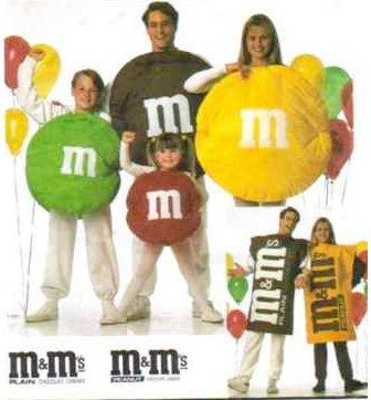 M & M's Candy Halloween Costume Sewing Pattern - Rare & last one! SOLD!