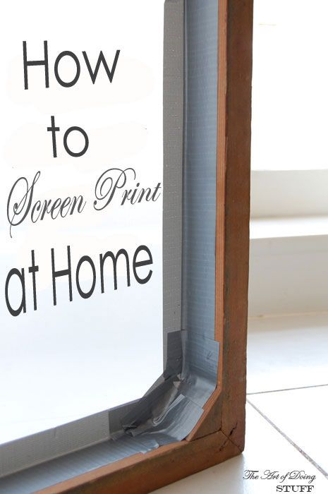 Like the pictures says this is step by step instructions on how to screen print at home.