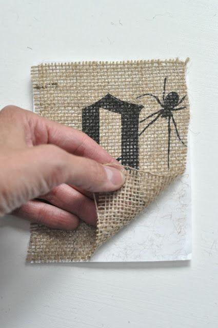 halloween burlap mini banner tutorial {how to print on burlap} | Little Birdie Secrets