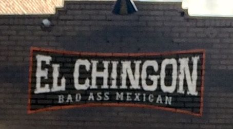 Funny names restaurant. Gaslamo quarter downtown San Diego.  Supposed to be amazing Mexican food but Comic Con took most of our time. We'll have to go back to give it a try.