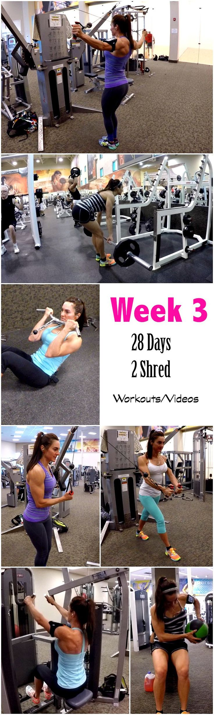 Week 3 workouts/Videos 28 Days 2 Shred