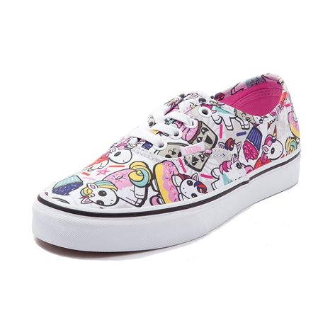 <p>Garnish your feet with the sweet style of the new Authentic Donut Unicorn Skate Shoe from Vans! This magical Vans Authentic features a sturdy canvas upper with a collage of quirky unicorns, sprinkles, and donut prints, finished off with a vulcanized rubber outsole for flexible traction. <b>Only available at Journeys and SHI by Journeys!</b></p>  <p><u>Features include</u>:</p> <ul> <li> Durable canvas upper&lt...