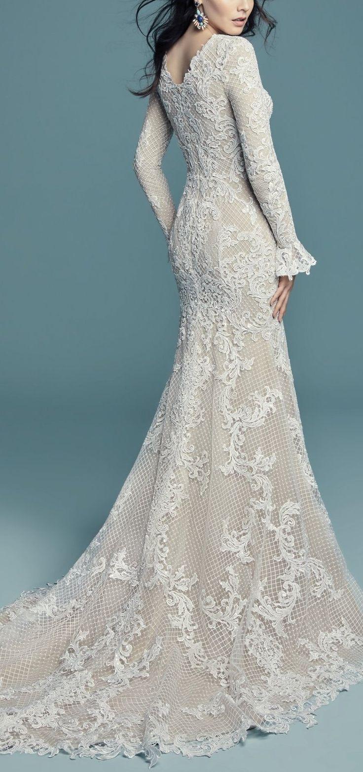 177 best Sleeved Wedding Dresses images on Pinterest