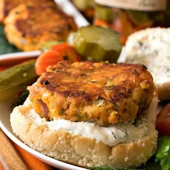 Zesty Salmon Burgers with Dill Spread | Recipes - Entrees | Pinterest