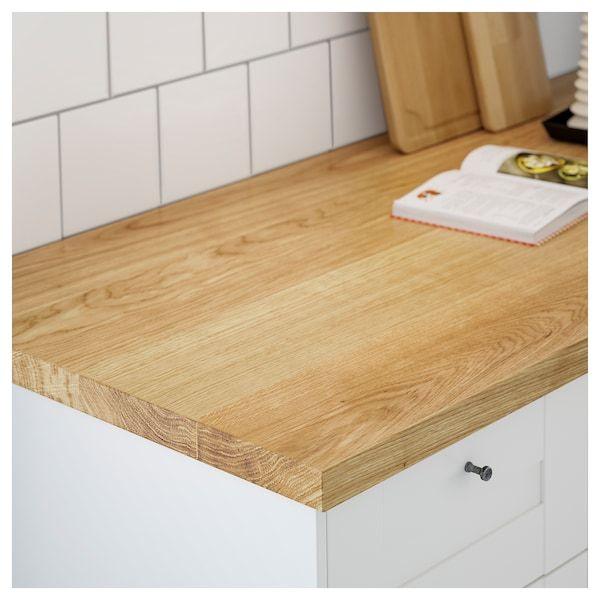 Mollekulla Oak Veneer Worktop 186x3 8 Cm Ikea In 2020 Countertops Solid Wood Countertops Wood Worktop