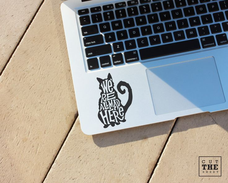 We're all mad here (Alice in wonderland) - Laptop Decal - Laptop Sticker - Car Decal - Car Sticker - Cheshire Cat Decal by Cutthesheet on Etsy https://www.etsy.com/listing/230481318/were-all-mad-here-alice-in-wonderland