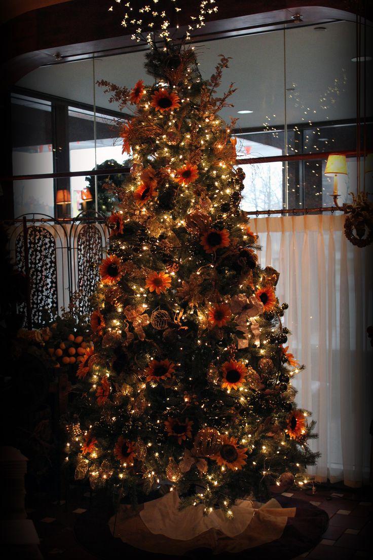 Our Sunflower Christmas Tree Arvore de natal, Decoração