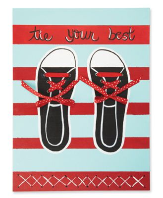 Tie Your Shoes Learning Lacing Canvas Board kids (Also makes a cute
