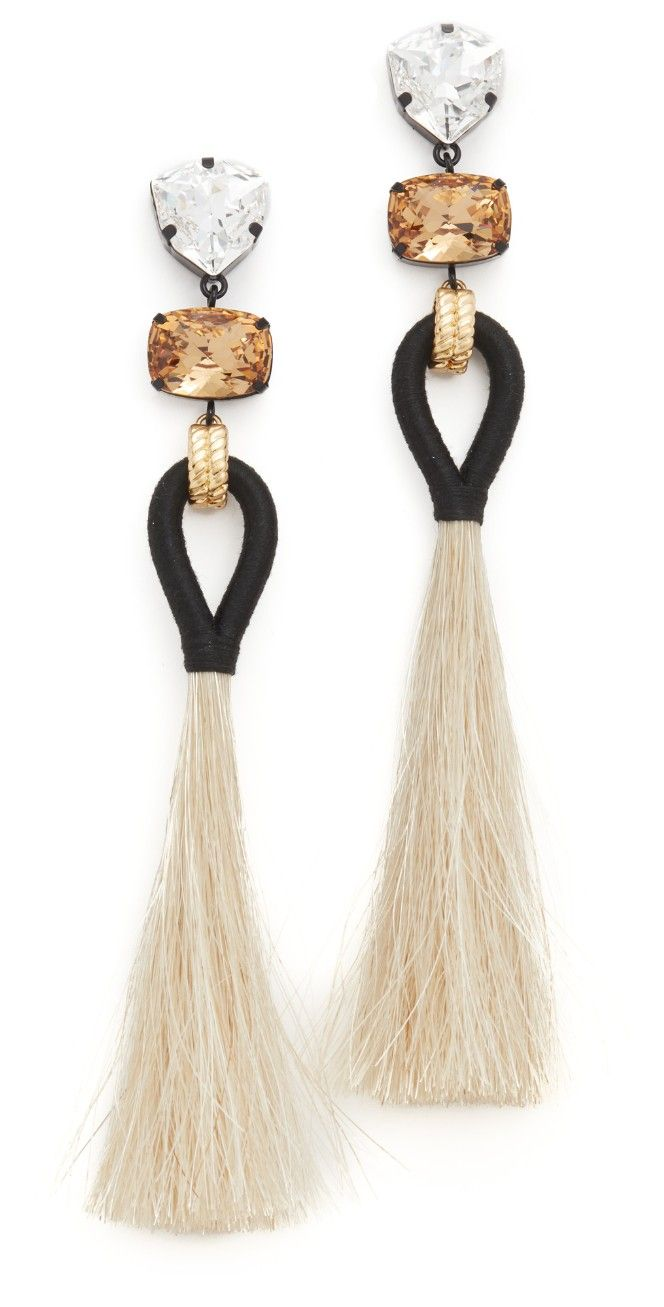 Tory Burch Hanging Tassel Earrings | SHOPBOP