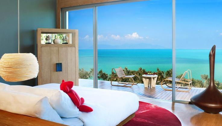 Würdest Du auch gern morgen mit diesem Ausblick aufwachen?  W Retreat Koh Samui  http://www.lastminute.de/reisen/900-87335-hotel-w-retreat-koh-samui-maenam-beach/