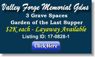 Featured Cemetery Listing - Valley Forge Memorial Gardens - King of Prussia, PA - 17-0828-1