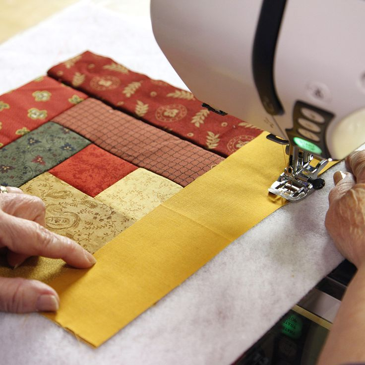 Quilt as you sew! PIECE BY PIECE